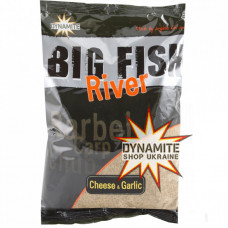 Прикормка Dynamite Baits Big Fish River Groundbait Cheese & Garlic 1.8kg - DY1371