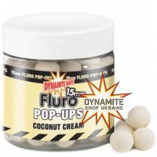 Бойли плаваючі DYNAMITE BAITS Coconut Cream - Fluro Pop-Up 15mm + Booster - DY576